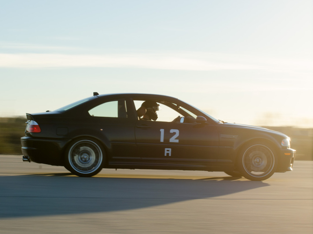 You take a huge parking lot (or an airport), set up a tight and twisty track out of cones and race against the clock.
