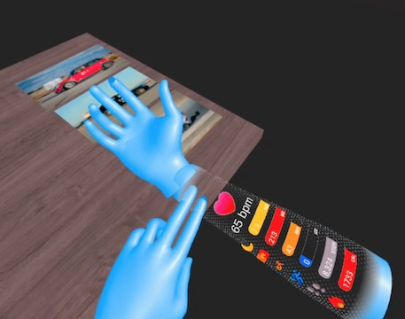 Physical interaction prototypes in VR, some using Oculus Quest hand tracking.